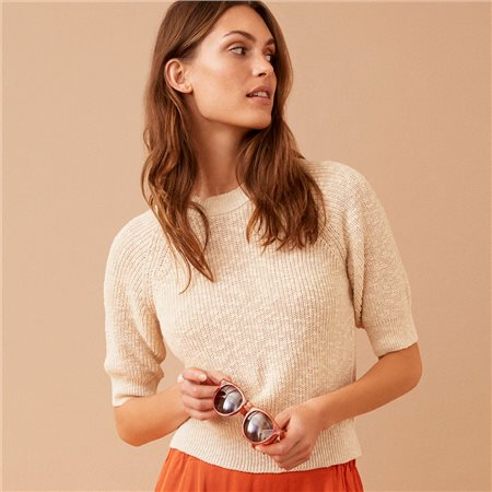 Part Two Delara Knitted Jumper Beige  - Click to view a larger image