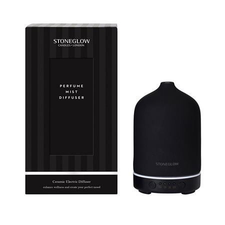 Stoneglow Modern Classics Perfume Mist Diffuser Black  - Click to view a larger image