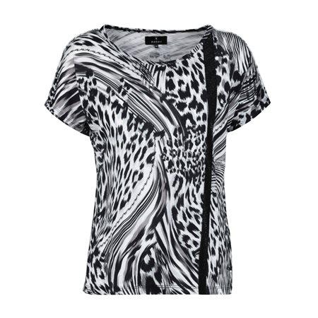 Monari Animal Print Top Black  - Click to view a larger image