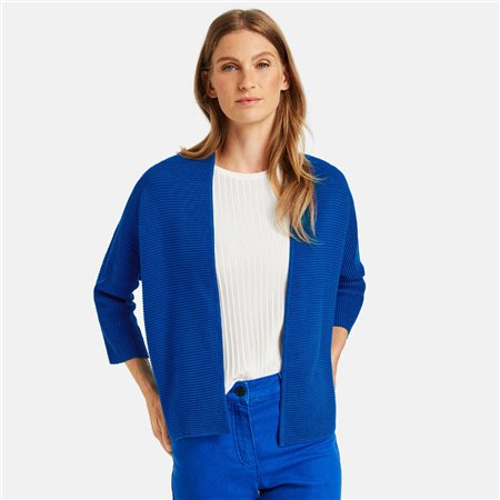 Gerry Weber Ribbed Cardigan Blue  - Click to view a larger image