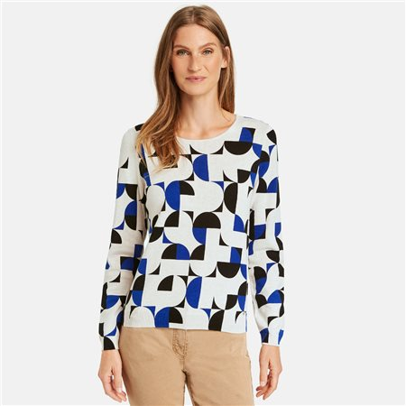 Gerry Weber Graphic Jumper Blue  - Click to view a larger image