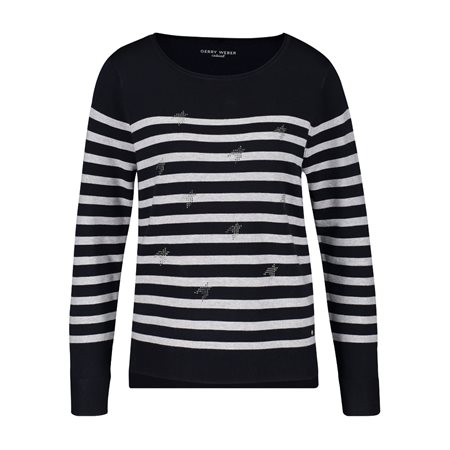 Gerry Weber Jumper With Stone Ornaments Navy  - Click to view a larger image