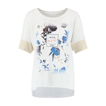 Gerry Weber Top With A Printed Panel Off White  - Click to view a larger image