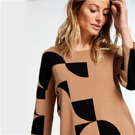 Gerry Weber Jumper With Curling Inlays Brown  - Click to view a larger image