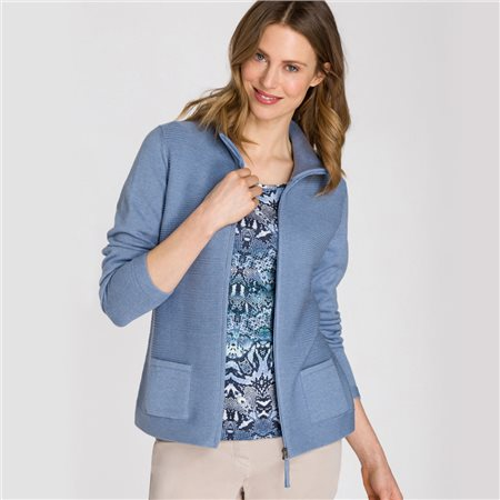 Olsen Long Sleeved Cardigan Blue  - Click to view a larger image