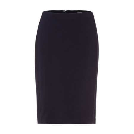 Olsen Skirt With Snake Side Stripe Navy  - Click to view a larger image