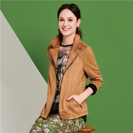 Lebek Soft Touch Jacket Camel  - Click to view a larger image