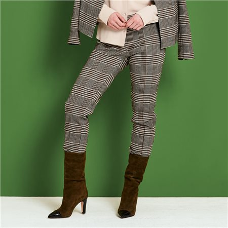 Lebek Check Trouser Brown  - Click to view a larger image