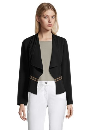 Betty Barclay Smart Jacket With Stud Detail Black  - Click to view a larger image
