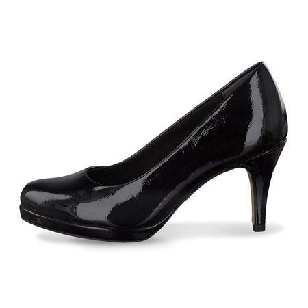 Tamaris Alzira Patent Court Shoe Black  - Click to view a larger image