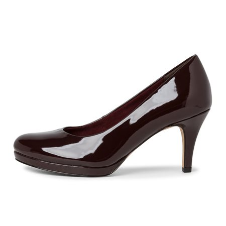 Tamaris Alzira Patent Court Shoe Aubergine  - Click to view a larger image