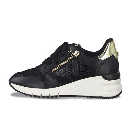 Tamaris Benito Trainers With Zip Black  - Click to view a larger image