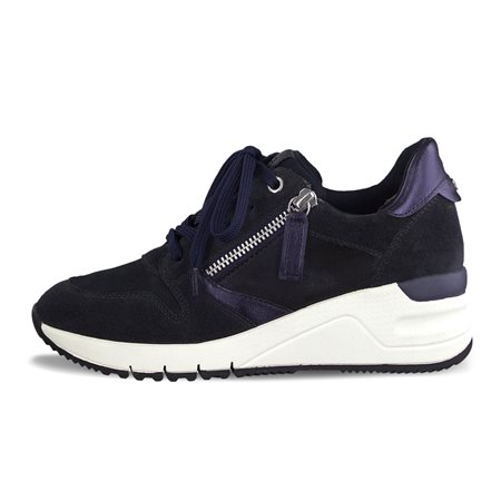 Tamaris Benito Trainers With Zip Navy  - Click to view a larger image