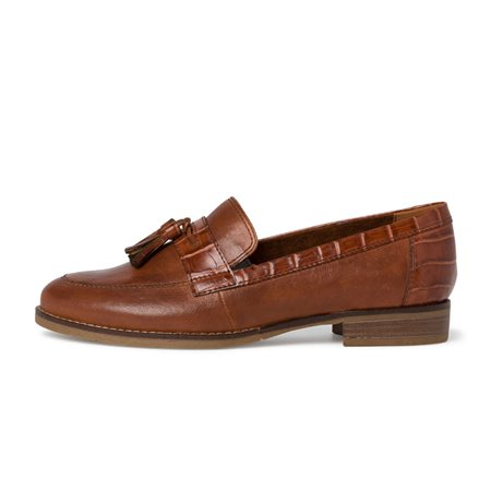 Tamaris Cornella Leather Slip On Cognac  - Click to view a larger image