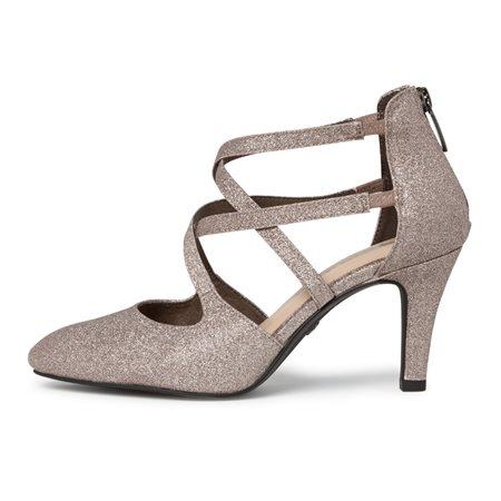 Tamaris Elda Glitter Heel Silver  - Click to view a larger image