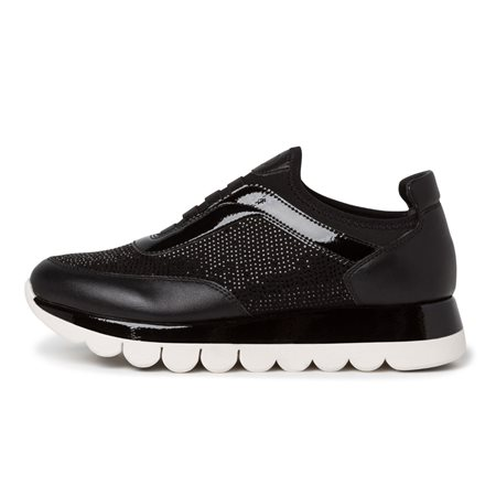 Tamaris Girona Trainer With Studs Black  - Click to view a larger image