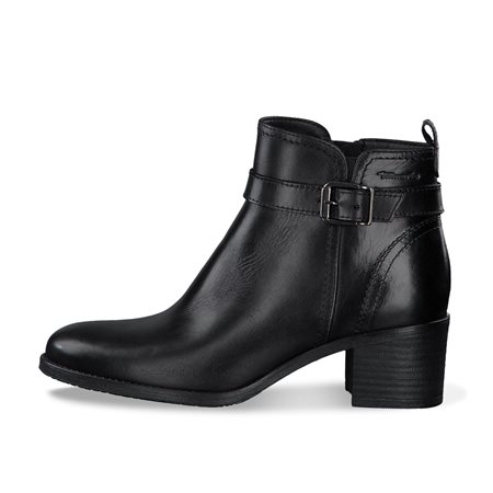 Tamaris Madrid Leather Boot Black  - Click to view a larger image
