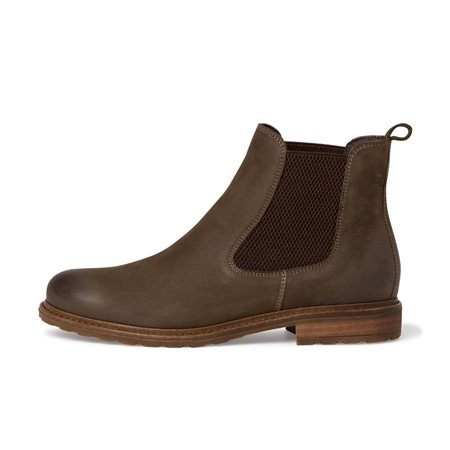 Tamaris Marchena Leather Chelsea Boot Olive  - Click to view a larger image