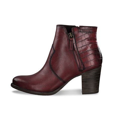 Tamaris Murcia Snake Print Boot Red  - Click to view a larger image