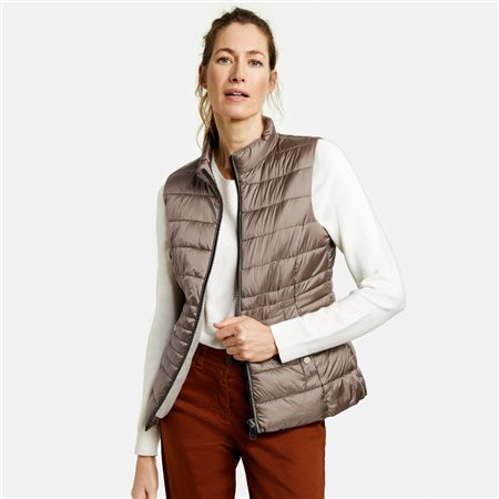 Gerry Weber Quilted Body Warmer Taupe  - Click to view a larger image