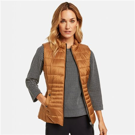 Gerry Weber Quilted Body Warmer Honey  - Click to view a larger image