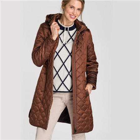 Olsen Quilted Coat With Detachable Hood Bronze  - Click to view a larger image