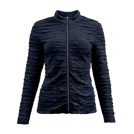 Lebek Textured Zip Jacket Navy  - Click to view a larger image