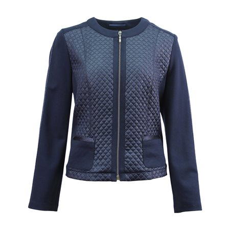 Lebek Quilted Panel Jacket Navy  - Click to view a larger image