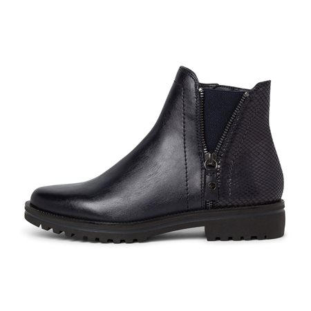Tamaris Seville Boot With Zips Navy  - Click to view a larger image