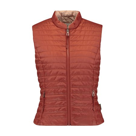 Gerry Weber Quilted Gilet Rust  - Click to view a larger image