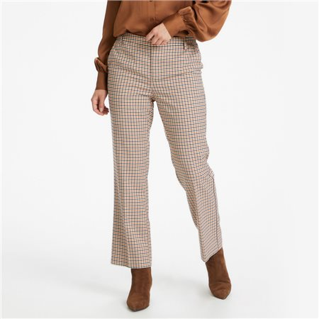 Part Two Birdie Check Trouser Navy  - Click to view a larger image