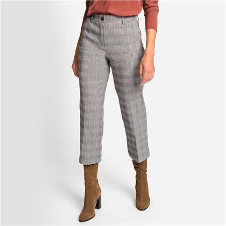 Olsen Mona Straight Glencheck Trouser Black  - Click to view a larger image