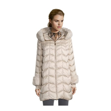 Betty Barclay Down Coat Champagne  - Click to view a larger image