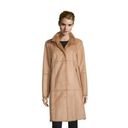Betty Barclay Faux Fur Coat Camel  - Click to view a larger image