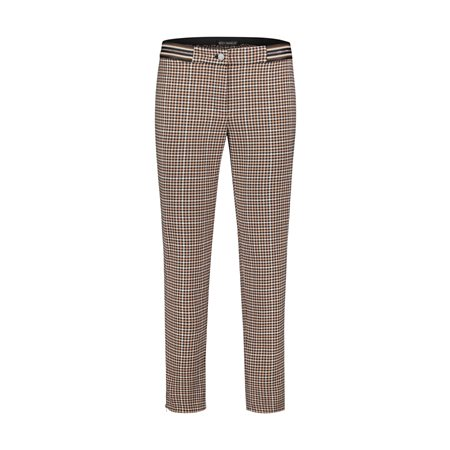 Betty Barclay Checked Trousers Camel  - Click to view a larger image