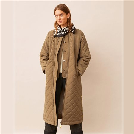 Part Two Edith Long Coat Khaki  - Click to view a larger image
