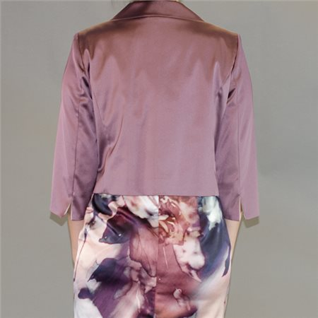 Vera Mont Pink 3/4 Sleeve Jacket  - Click to view a larger image