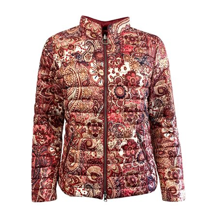 Lebek Reversible paisley Coat Red  - Click to view a larger image