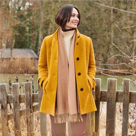Lebek Classic Coat Mustard  - Click to view a larger image