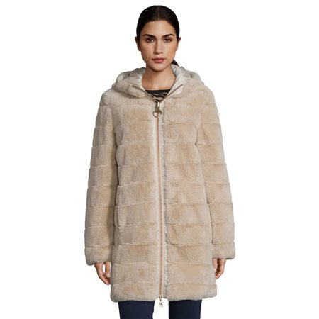 Betty Barclay Reversible Hooded Coat Beige  - Click to view a larger image