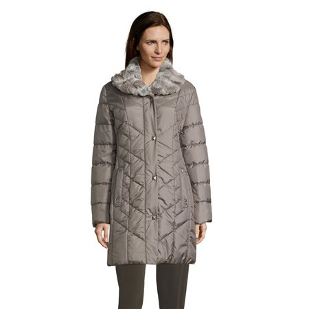 Betty Barclay Outdoor Coat With Trim Detail Grey  - Click to view a larger image