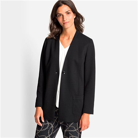 Olsen Longline Jacket Black  - Click to view a larger image