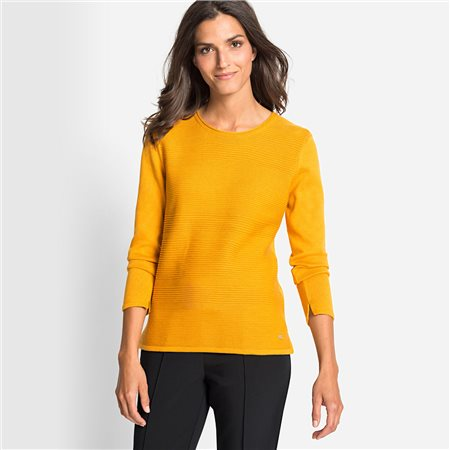 Olsen Ribbed Jumper Honey  - Click to view a larger image