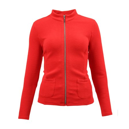 Lebek Textured Zip Jacket Red  - Click to view a larger image