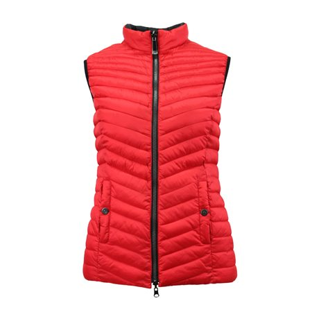 Lebek Padded Gilet Red  - Click to view a larger image