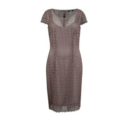 Vera Mont Lace Dress Chocolate  - Click to view a larger image