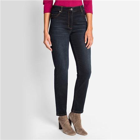Olsen Mona Slim Jeans With Embellished Back Pockets Denim Blue  - Click to view a larger image
