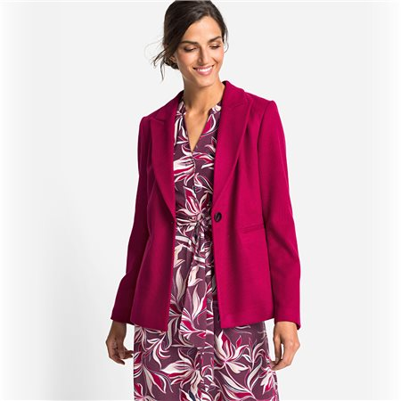 Olsen Blazer With A Cord Structure Raspberry  - Click to view a larger image