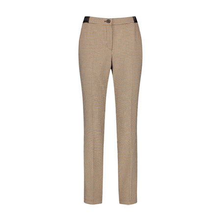 Gerry Weber Check Print Trousers Black  - Click to view a larger image