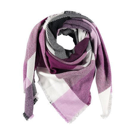 Gerry Weber Checkered Scarf Lilac  - Click to view a larger image